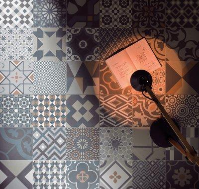 Le Cementine é delicado e versátil, com três propostas cromáticas que partem do cru, do cinza ou de um mix multicolor.