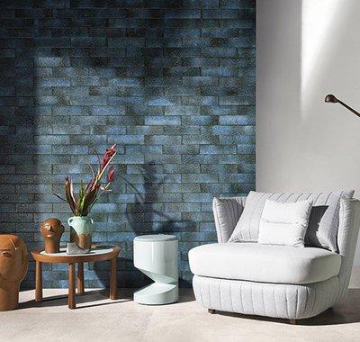 Brickstar tem uma proposta hand made, textura rústica e um leve brilho metalizado, um tijolinho de muita personalidade.