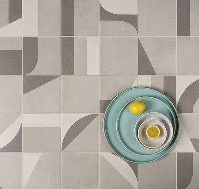 As formas livres da semana de arte moderna de 22 inspiraram os ladrilhos Superquadra Art.